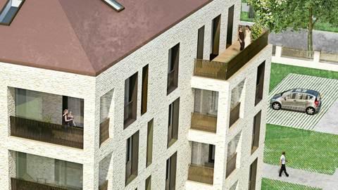 Bild 2 Neubau 2-Zimmerwohnung EG