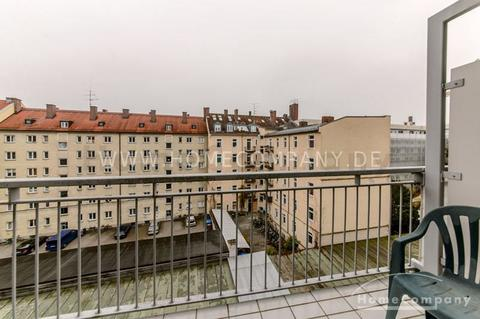 Balkon Hochwertig möbliertes Apartment in München-Bogenhausen