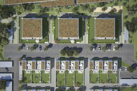 Freiflächenplan Großzügiges Reiheneckhaus mit ca. 247m² Wohn- & nutzbarer Fläche im günstigen ERBBAURECHT