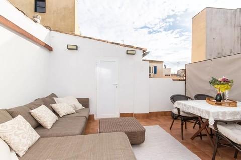 Detaill_private Dachterrasse Trend Zweitwohnsitz: Charmantes Penthouse mit privater Dachterrasse in der Altstadt von Palma