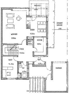 Grundriss EG Möbliert auf Zeit - Großzügige Doppelhaushälfte in ruhiger & schöner Wohnlage Krailling