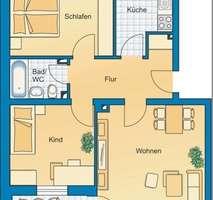 Grundriss Ideal geschnittene 3-Zimmer-Wohnung in ruhiger, grüner Lage nahe Lerchenauer See