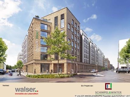 Außenansicht Innovatives und lukratives 2-Zimmer-Apartment mit Balkon in begehrter Citylage