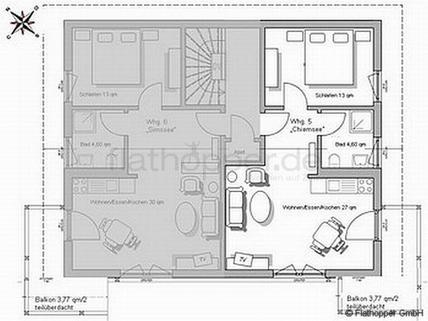 Bild 11 FLATHOPPER.de - 2-Zimmer Wohnung im Studiocharakter mit Balkon in Bad Endorf - Landkreis Rosenheim