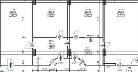 1S05 Großzügiges Mehrraumbüro mit Klima und Einbauküche BIZ Wels Top 1.S-05
