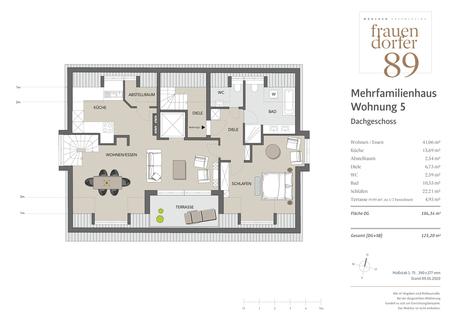 MFH 5 DG Exklusives Penthouse mit 2,5 Zimmern, Dachspitz und Dachterrasse