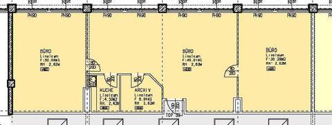 Top35 Geräumiges 3-Raum Büro im GTZ-Wels, TOP 35 inkl. Küche und Abstellraum