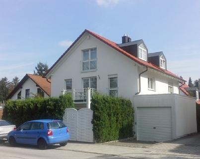 Ansicht Doppelhaushälfte in Waldtrudering