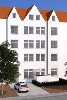 Ansicht Front 3 D Wunderschöne 4-Raum-Wohnung in beliebter Innenstadtlage von Erfurt