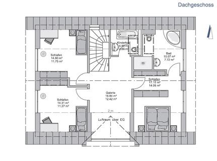 Das Obergeschoss GEO WOHNBAU: Dieses freistehende Einfamilienhaus besticht durch viele Vorzüge …