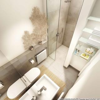 Beispielbadezimmer Innovatives und lukratives 2-Zimmer-Serviced-Apartment mit Balkon in begehrter Citylage