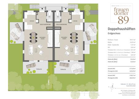 Erdgeschoss Großzügiges Doppelhaus mit 5 Zimmern, Hobbybereich und Garten