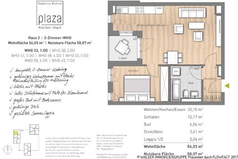 Grundriss Whg 33_38_43_48_53_58_63 Traumhafte 2-Zimmer-Wohnung mit Westausrichtung im 5. OG – Erleben Sie Großzügigkeit!