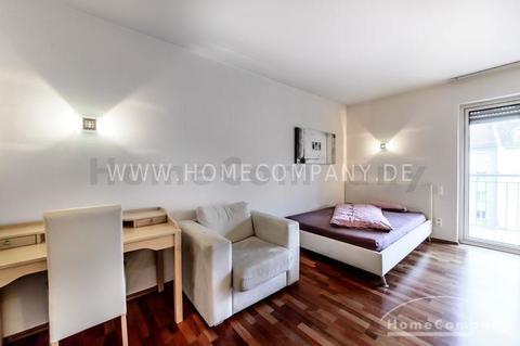 Wohn-/Schlafbereich Hochwertig möbliertes Apartment in München-Bogenhausen