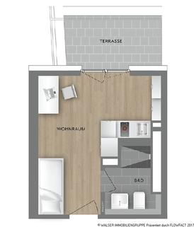 Grundrissplan Typ 19 Schickes Dachterrassen-Apartment! Für Studenten/Azubis *ERSTBEZUG*