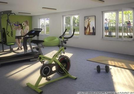 Fitnessraum * Dachterrassen-Apartment* im NEUBAU my room active! Für Studenten und Azubis *