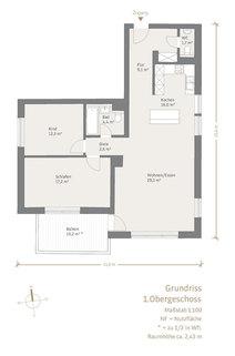 1. Obergeschoss Modernisierte, helle 3-Zimmer-Wohnung mit großem Südbalkon