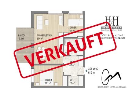 TOP13_Grundriss_verkauft TOP 15: 2-Zimmer-Wohnung im 3.OG