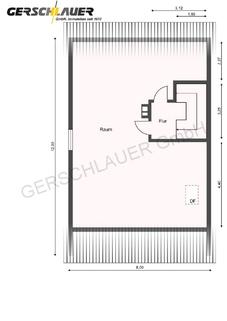 Grundriss Dachgeschoss Große Doppelhaushälfte in der Hammerschmiede