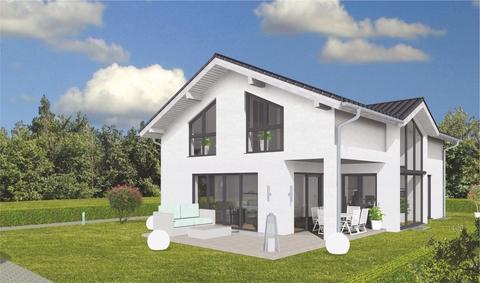 Ansicht vom Garten (SW) GEO WOHNBAU: Dieses freistehende Einfamilienhaus besticht durch viele Vorzüge …