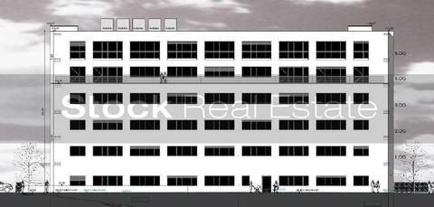 Ostansicht STOCK - Neubau eines Multifunktionsobjekts Büro | Loft | Showroom