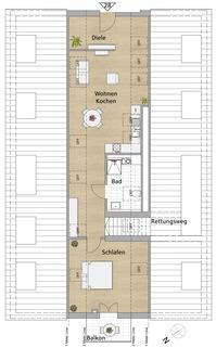 Wohnung 28 im Dachspitz Viel Platz für Zwei