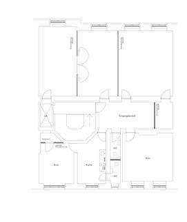 Grundriss Büroflächen / ShowroomflächenBestlage – Maximilianstraße