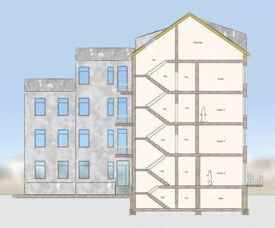Schnitt Front Wunderschöne 4-Raum-Wohnung in beliebter Innenstadtlage von Erfurt