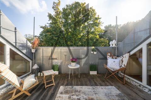 Südterrasse großzügiges MansardenUNIKAT mit 2 Schlafzimmern auf ca. 92 qm im grünen Untermenzing