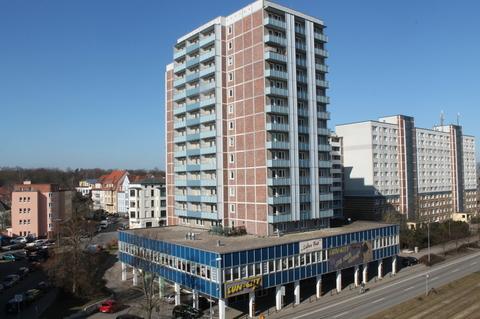 Außenansicht Große Gewerbeeinheit mit attraktiver 218 m² Fläche in zentraler Rostocker Stadtlage.