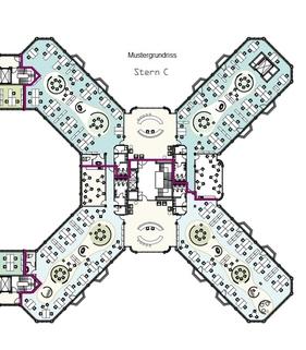 Grundriss Mustergrundriss Stern C Top-Büros vor Münchens Toren