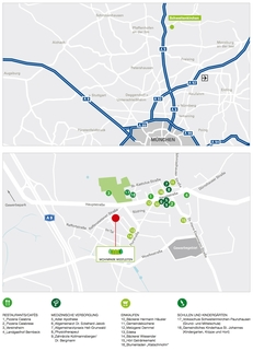 Lageplan Premium 3 Zi. DG-Wohnung mit ca. 109m² Wfl, grosser Dachterrasse und 2x TG-Platz. Nur 2 Min. zur A9.