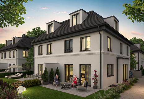 Nachtansicht Neubau! Doppelhaushälfte in ruhiger Lage von Bogenhausen-Denning!