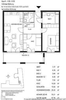 Grundriss 516_526_536_546_555_565 Traumhaft schöne und sehr ruhig gelegene 3-Zimmer-Wohnug in Bogenhausen