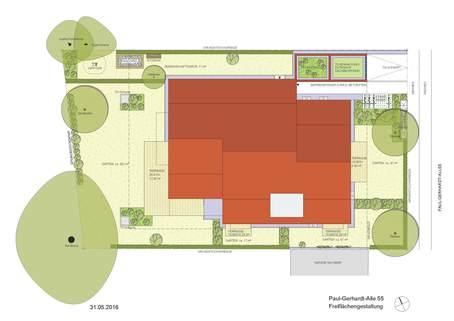 Freiflächenplan Erstbezug - Attraktive Erdgeschosswohnung mit Südausrichtung