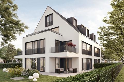 Hausansicht (Illustration) Erstbezug: Gartenwohnung mit 4 Zimmern und Hobbyraum