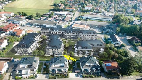 Whg. 113 (Luftbild Visualisierung) **NEUBAU** Attraktive, innovative Eigentumswohnungen im Herzen des Chiemgaus! KfW 40+