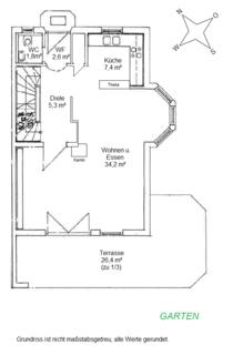 Erdgeschoss Waldtrudering: Gepflegte Doppelhaushälfte, absolut ruhig gelegen