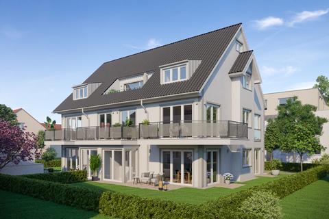 Gartenansicht Mehrfamilienhaus (Illustration) Attraktives  Neubau-Mehrfamilienhaus mit 5 Einheiten zur Kapitalanlage