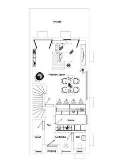 Grundriss EG Neubau einer attraktiven Doppelhaushälfte in Großhadern-Blumenau