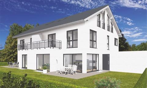 Die Gartenansicht Verkauft: Sehr große und modern geplante Doppelhaushälfte in OTTOBRUNN