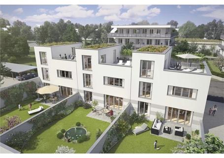 Illustration Gartenhofhäuser Großzügiges Reiheneckhaus mit ca. 247m² Wohn- & nutzbarer Fläche im günstigen ERBBAURECHT