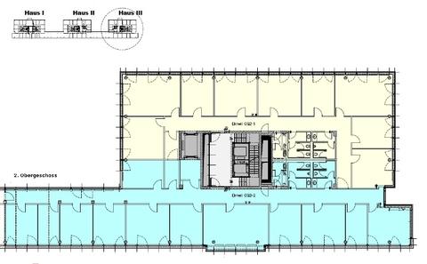 Grundriss 2 OG Haus 3 Attraktives Büro am Hirschgarten