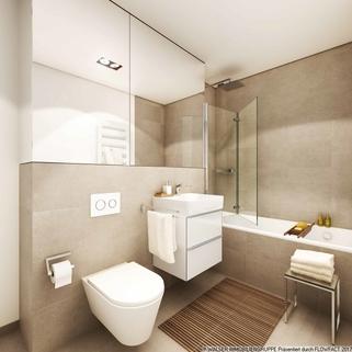 Hochwertig ausgestattete Bäder Gallusviertel: Kompakte und aussergewöhnliche 1,5-Zimmerwohnung mit Loggia