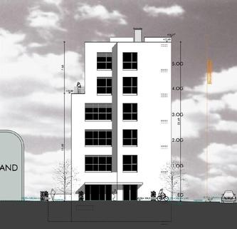 Nordansicht STOCK - Neubau eines Multifunktionsobjekts Büro   Loft   Showroom