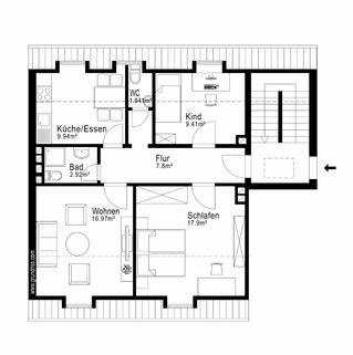 Grundriss AIGNER - Kernsanierte Dachgeschosswohnung in Giesing