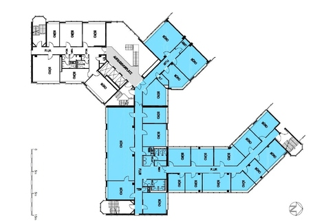 Grundriss_1OG Moderne Büros am Arabellapark