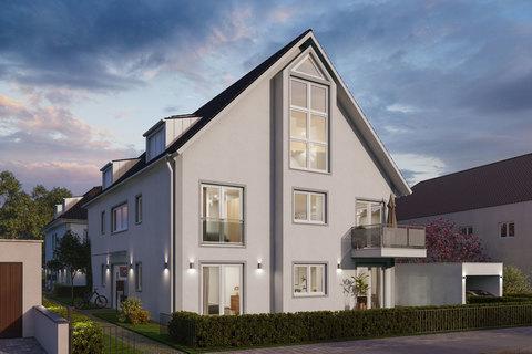 Hausansicht (Illustration) Charmante 2-Zimmer-Wohnung mit drei Balkonen