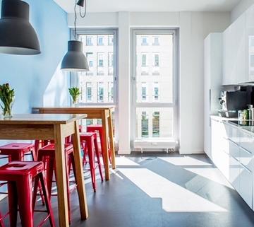 Teeküche, Beispiel Repräsentative Büros in chicem Neubau