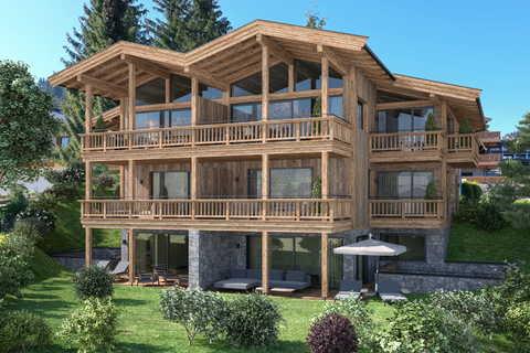 Kirchbichl_55_02_P01_V01 Grundstück mit baugenehmigter Planung an der Skipiste in Ellmau